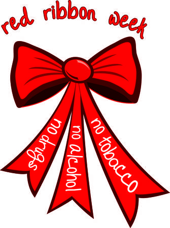 visually: This well designed red bow graphic can be a part of so many drug free campaigns.  Use it to create your visually impactful campaign. Illustration
