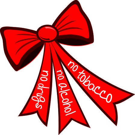 This well designed red bow graphic can be a part of so many drug free campaigns.  Use it to create your visually impactful campaign. 向量圖像