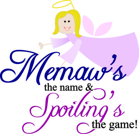 guardian: Every little one needs a memaw to love and watch over them.  Add this guardian angel memaw to projects for the little people as a reminder of their precious memaw. Illustration