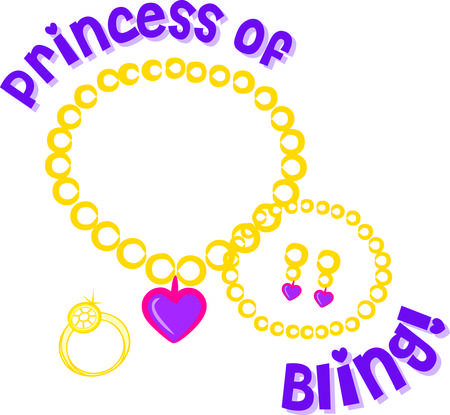 adorn: Beautiful jewels fit for a princess are the perfect way to adorn your royal projects  We love this graphic on shirts and bags or even a quilt square