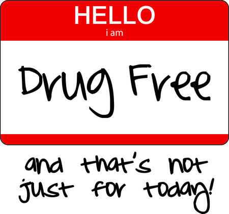 Not your typical introduction but an important tag Use this graphic to create a great sticker or banner for your drug free rally. Ilustração