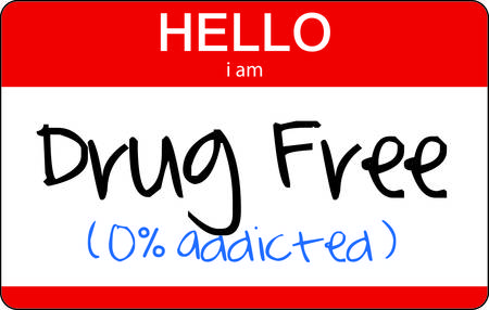 the name of the drug: Not your typical introduction but an important tag Use this graphic to create a great sticker or banner for your drug free rally. Illustration