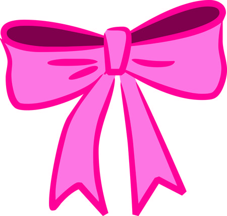 A big pink bow for a pretty little lady.  So so cute for decorating the little girl room or creating a that special custom clothing item. Illusztráció