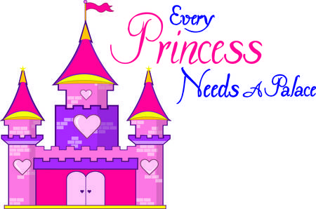 stronghold: A pink castle with hearts is a must for the princess of the family.  Use this super cute castle to decorate everything from rooms to regal attire.
