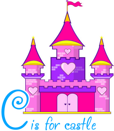 A pink castle with hearts is a must for the princess of the family.  Use this super cute castle to decorate everything from rooms to regal attire.
