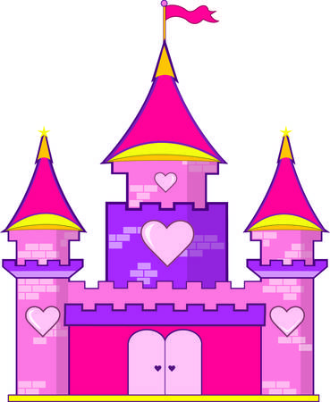 king and queen of hearts: A pink castle with hearts is a must for the princess of the family.  Use this super cute castle to decorate everything from rooms to regal attire.