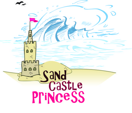 A warm summer day at the beach is not complete without a sand castle.  This royal castle is just what you need to add a regal touch to decorations from pillows to shirts