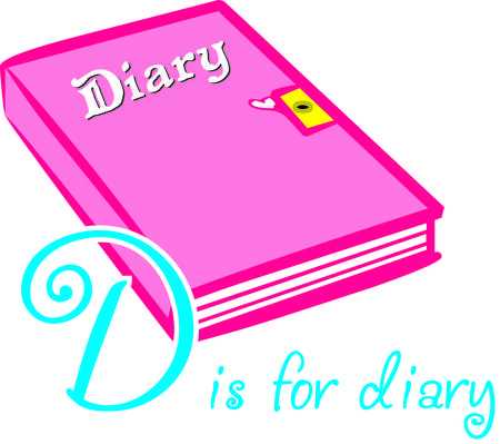 diary: Write down those fun memories in a pretty pink diary  under lock and key of course  Super cute on room dcor and even book covers