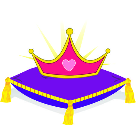 nobility: Every queen needs a tiara and we are sure your royal will just love this heart embellished crown.  Use it making decorations for the kingdom or royal apparel.