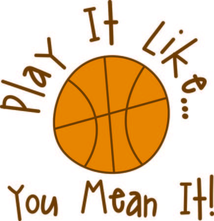Begin een volledige hofpers met dit basketbalontwerp. Zeker om een ??drie puntenmand te zijn