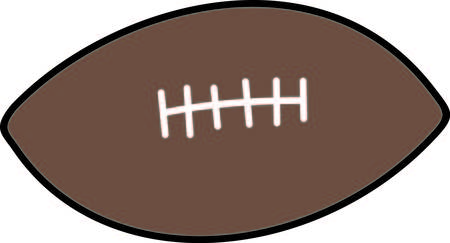 sure: Kick the extra point and score with this football design.  Sure to be a touchdown Illustration