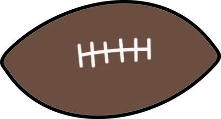 Schop de extra punt en scoor met deze voetbal ontwerp. Zeker om een touchdown te zijn Stock Illustratie