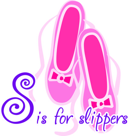en pointe: Dance dance dance  We think these ballet slippers are super cute  The lovely pink bow provides just the perfect touch.