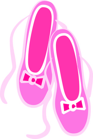 ballet slippers: Dance dance dance  We think these ballet slippers are super cute  The lovely pink bow provides just the perfect touch.