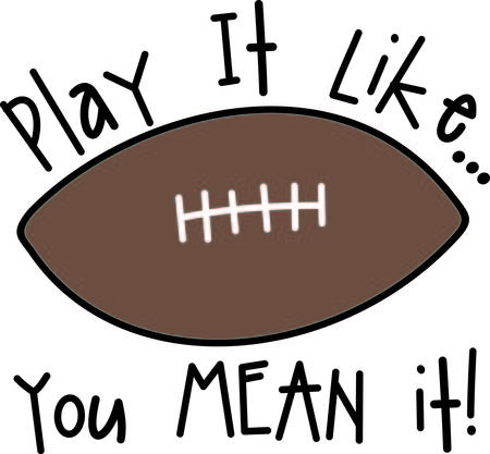 Kick the extra point and score with this football design.  Sure to be a touchdown Çizim