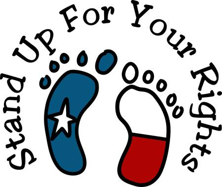 Texans stand up for their rights.  Made right here in the USA