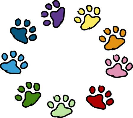sure: Send your friends these cute paw prints My dog walks all over me.  Its sure to bring a smile