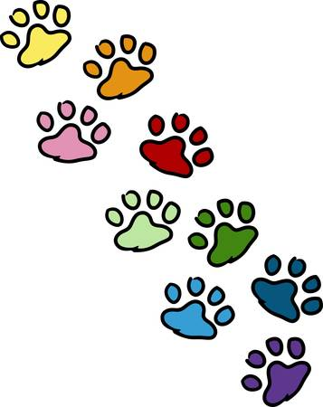 Send your friends these cute paw prints My dog walks all over me.  Its sure to bring a smile