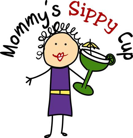 Sometimes mom needs a little sippy cup of her own.