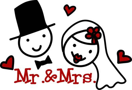 marrying: A bridegroom is typically attended by a best man and groomsmen. If marrying a woman his partner is usually referred to as the bride pick those designs by concord Illustration