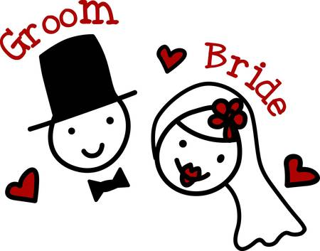 A bridegroom is typically attended by a best man and groomsmen. If marrying a woman his partner is usually referred to as the bride pick those designs by concord Иллюстрация