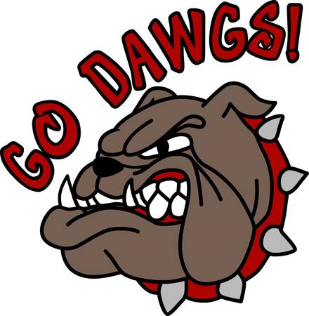 Georgia Bulldogs game to enjoy for both boys and girls pick those designs by Concord. Ilustracja