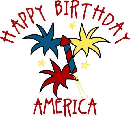 7 月 4 日にこれらの花火の完璧な項目をこの日を祝うために家族や友人と私たちの自由を祝います。 彼らはそれを愛する  イラスト・ベクター素材