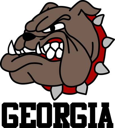 Georgia Bulldogs game to enjoy for both boys and girls pick those designs by Concord. 向量圖像