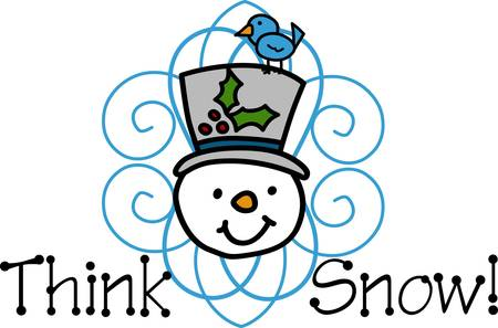 pick out: A figure of a person made out of packed snow makes a snowman pick those designs by Concord Illustration