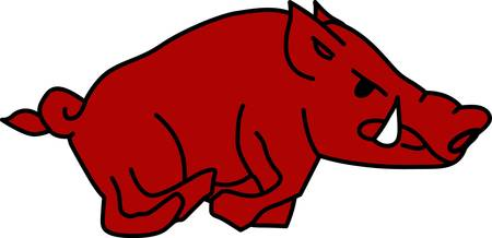 scrofa: A wild Old World swine Sus scrofa from which most of the domestic hogs are derived.  Go Razorbacks Pick those designs by Concord