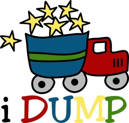 Een dump truck wordt gebruikt voor het transport van los materiaal zoals zand grind of vuil voor de bouw halen die ontwerpen door eendracht