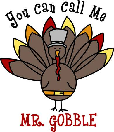 gobble: Get into the holiday spirit with your Thanksgiving decorating.  This turkey is perfect Pick those designs by Concord