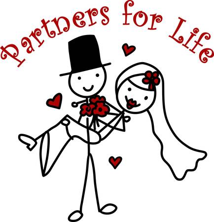 especially: Two people in a happy romantic relationship especially two people who have just married pick those designs by concord Illustration