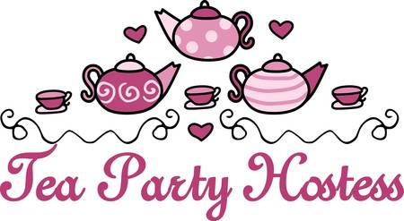 tea set: This pretty pink tea set is ready to be used by a princess Throw a royal tea party with this design by Concord Collections.