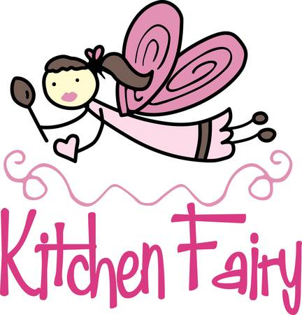 Your kitchen will be cozy the true heart of your home when visited by a fairie you will never be alone. Pick those designs by Concord Ilustração