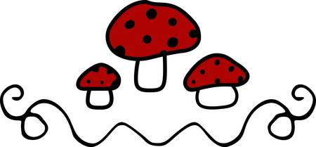 embellishments: Collect the colorful red mushrooms designs by Concord