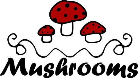 Collect the colorful red mushrooms designs by Concord