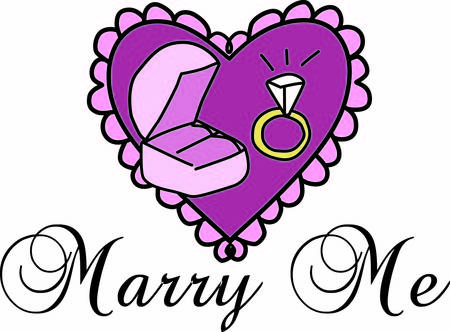 popping: This eye popping question pops the magic question  will you marry me  Use the lacey heart and beautiful ring as a part of your engagement designs Illustration