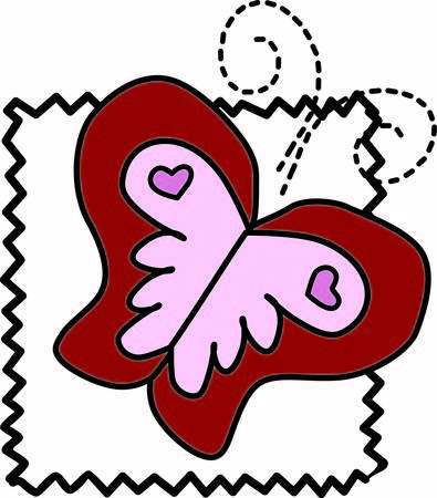 encouragement: This whimsical butterfly is a visual encouragement to live your dreams.  This pretty graphic offers so many options for decorating and embellishing. Illustration