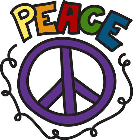 Add trendy and stylish appeal with this peace sign design.  Perfect way to add colorful appeal to your projects. Illusztráció