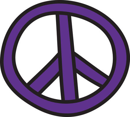 appeal: Add trendy and stylish appeal with this peace sign design.  Perfect way to add colorful appeal to your projects. Illustration