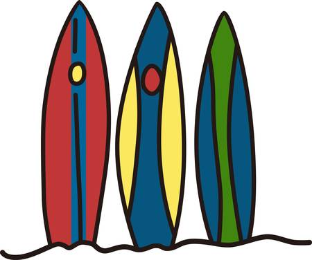 A long narrow board on which a person stands and rides the crest of a breaking wave toward the shore in surfing pick those designs by concord