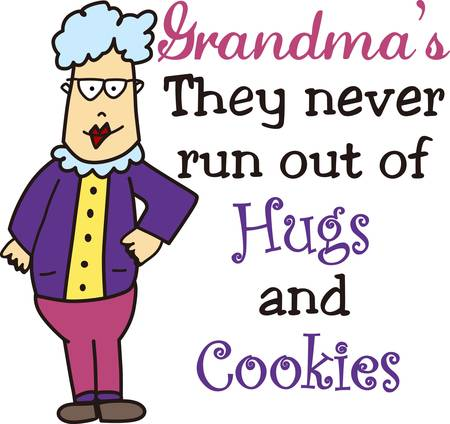 grandmas: Grandmas hold your tiny hands for a while pick those designs by concord collections Illustration