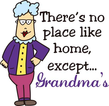 Grandmas hold your tiny hands for a while pick those designs by concord collections Иллюстрация