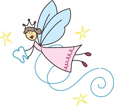 The tooth fairy is a fantasy figure of early childhood pick those designs by concord