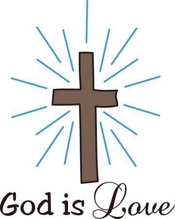 Het kruis wordt wereldwijd erkend als het symbool van het christendom. Dit kruis terwijl eenvoudig is visueel aantrekkelijk Stock Illustratie