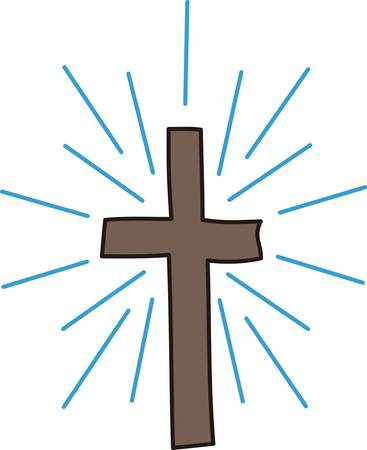 visually: The cross is recognized world wide as the symbol of Christianity.  This cross while simple is visually appealing
