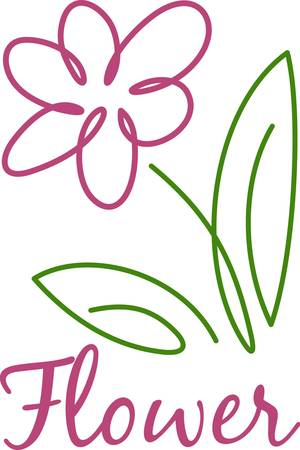 Add a touch of spring with this floral drawing.  This modern lines bring instant visual appeal to your project. Illustration