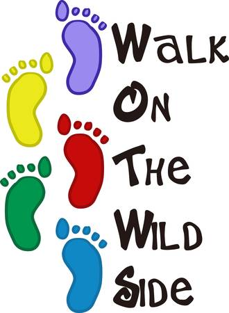 A movement made by Baby Foot Steps as they walk or run pick those designs by concord