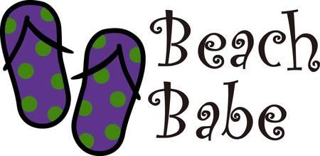 beach babe: Muoversi con un suono svolazzante o movimento raccogliere quei disegni di concordia Vettoriali